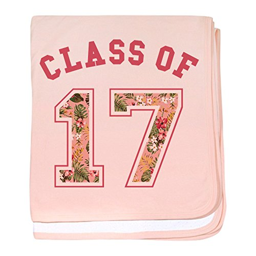 Embroidered Blanket Graduation - CafePress - Class 17 Floral Pink - Baby Blanket, Super Soft Newborn Swaddle