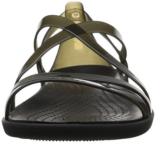 Black Negro Sandalias para 001 Punta de Women Sandal Descubierta Strappy Mujer Isabella Crocs UOwRqxPHZ