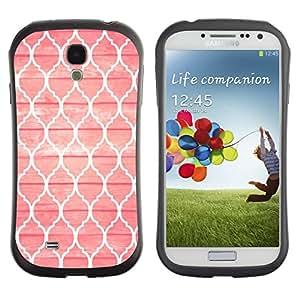 Suave TPU GEL Carcasa Funda Silicona Blando Estuche Caso de protección (para) Samsung Galaxy S4 I9500 / CECELL Phone case / / Pink Sin God Pattern Window /