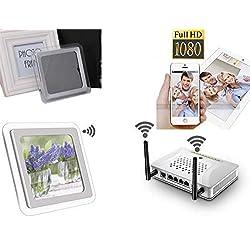 51youg 1080P P2P Wifi Mini Pinhole Hidden Alarm Clock Spy Camera TF Card DV Android iOS