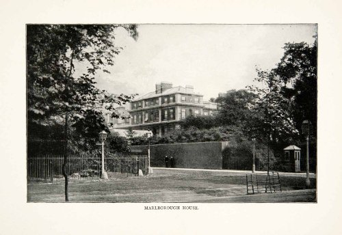 1902 Print Marlborough House Mansion Westminster London Pall Mall England Royal - Original Halftone - In Mall Westminster
