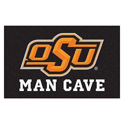 FANMATS 14591 Oklahoma State University Nylon Universal Man Cave UltiMat Rug