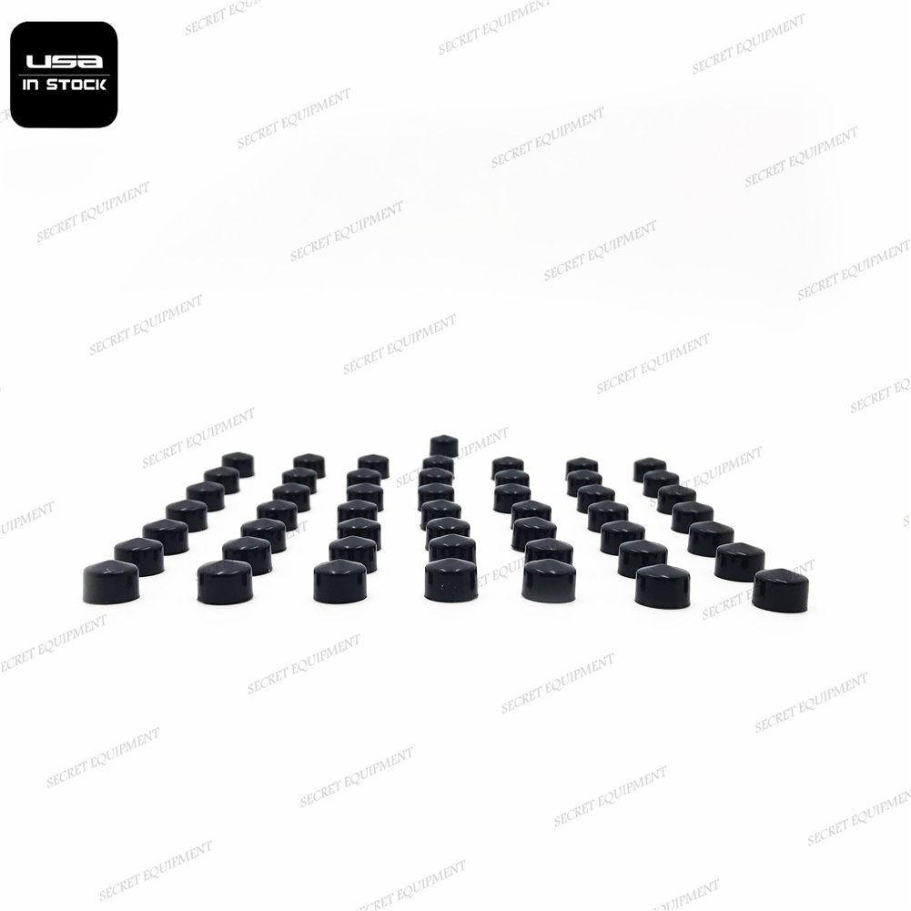 SEMT 50PCS Bolt Cap Dress Cover Kit for 07-17 Harley Touring Engine Trans Primary Black
