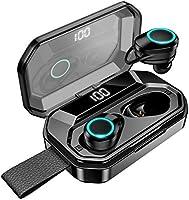 【第2世代進化版 4000mAh充電ケース 最大500分間音楽再生 LEDディスプレイ Bluetooth5.0 EDR搭載 IPX7完全防水 超大容量充電ケース付き 】Bluetooth イヤホン 自動ペアリングHi-Fi高音質...