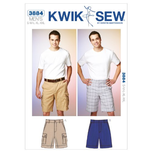 Kwik Sew K3884 Shorts Sewing Pattern, Size S-M-L-XL-XXL