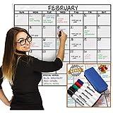 縦91cm X 横122cm 大型ラミネートホワイトボードシート月間スケジュール表 36-Inch by 48-Inch Laminated Jumbo Size Calendar Whiteboard Sheet