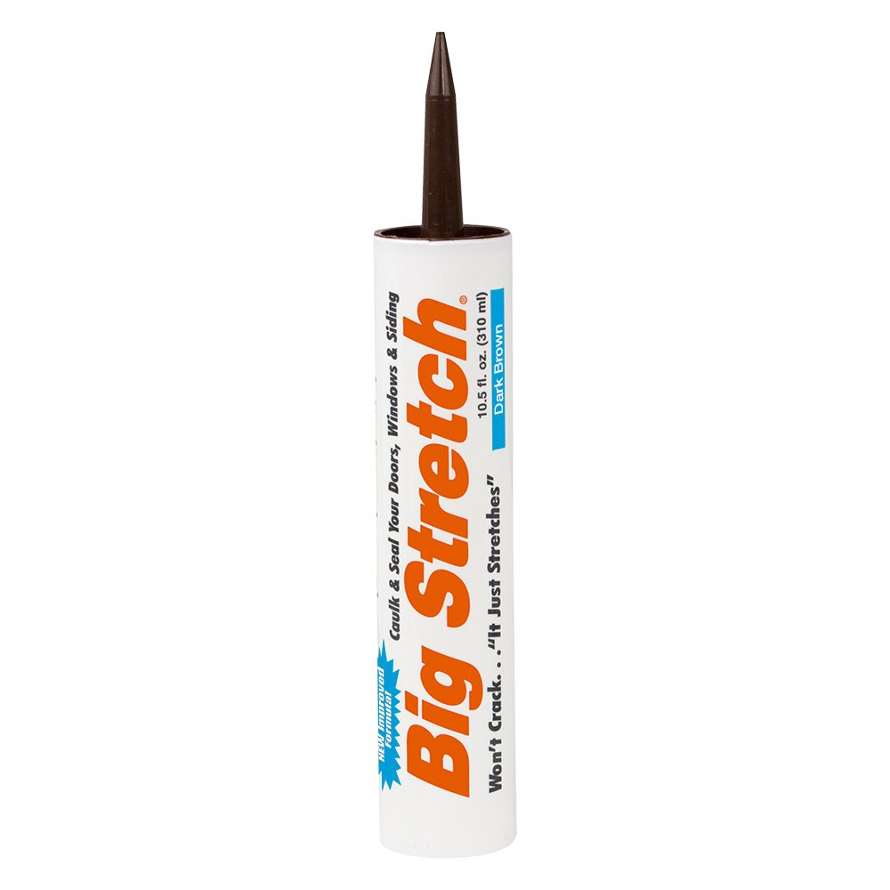 Sashco Big Stretch Acrylic Latex High Performance Caulking Sealant, 10.5 Ounce Cartridge, Dark Brown (Pack of 12)