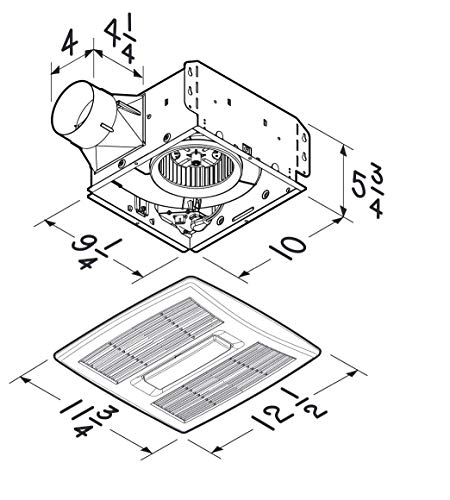 Broan Ae110l Invent Energy Star Qualified Single Speed Ventilation