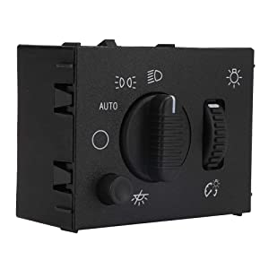 Headlight Switch - Fit for Chevy Silverado, Suburban, Tahoe, GMC Sierra, Yukon, Cadillac Escalade - Replace D1595G, 19381535, 15194803, 1S8489 - Headlamp Dimmer Switch