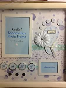 Amazon Com Cudlie Shadow Box Baby Boy Photo Frame Baby