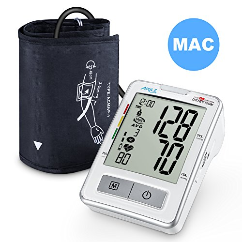 Blood Pressure Monitor Upper Arm, APULZ Digital Automatic BP Machine Cuff 8.7-16.5 in, High Accuracy Twice Consecutive Measurements, 240 Sets Two Users- Batteries Included, FDA Approved