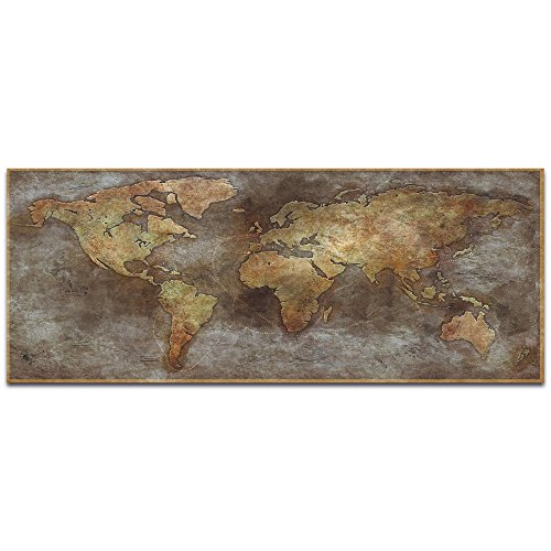 Metal Art Studio '1800s Trade Routes Map' by Ben Judd-Old World Map Wall Decor Cartography Artwork, Metal ()