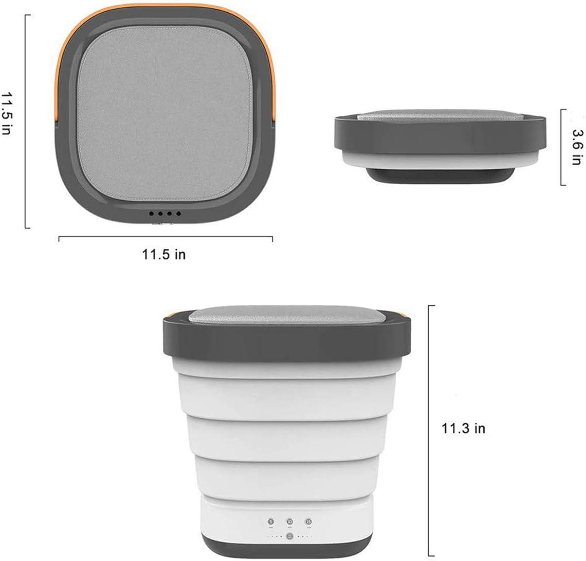 ORPERSIST Lavadora Pequeña, Mini Lavadora Plegable de Ropa Portátil con Temporizador & Capacidad Lavado 3 KG, Lavadora para Camping o Viajes,Rosado: Amazon.es: Hogar