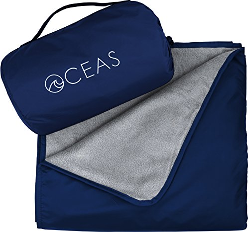 Oceas Outdoor Waterproof Blanket by Warm Fleece Great for Camping, Outdoor Festival, Beach, and Picnic Use – Extra Large All Weather and Waterproof Throw Blanket