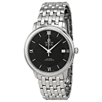 Omega De Ville Prestige Co-Axial Automatic Black Dial Stainless Steel Mens Watch 424.10.37.20.01.001 by Omega