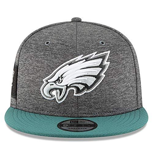 New Era Philadelphia Eagles 2018 Sideline Onfield NFL Graphite Charcoal/Green 9Fifty Snapback Adjustable Hat, ()
