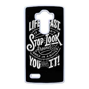 Def Lepard LG G4 Funda Caja del teléfono celular blanco F8C6YS
