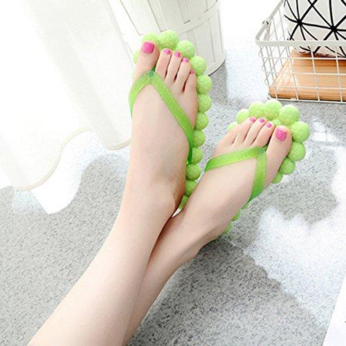 Pantoufles Chevrons Cool de d'été Tong Plage Semelle Femme à Douche Chaussons Vert Souple de Shujin Plat en Fond xq0Ptw5q8