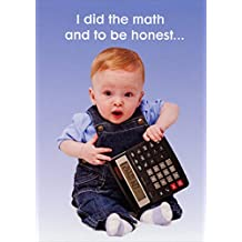 Baby with Calculator Funny 65th Birthday Card
