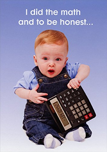 Image Unavailable Not Available For Color Baby With Calculator Funny 65th Birthday Card