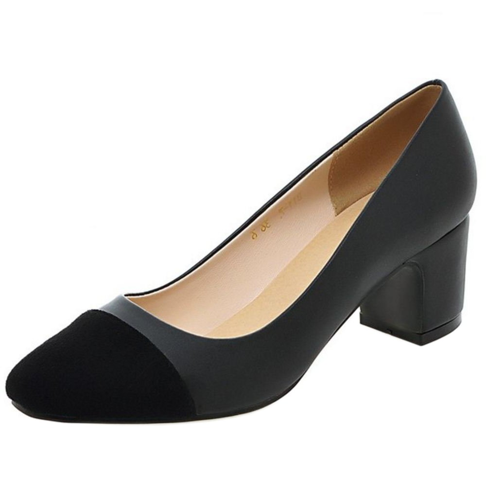 Zanpa Damen Mode Pumps Mid Heel41 EU|2#black