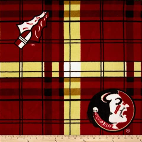 Florida State Fleece Plaid Camo Fabric By The Yard - Florida State Fleece Fabric
