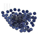 Be You Blue Colour Crystal Glass AA Quality 10 mm Diamond Cut Round Shape 500 pcs loose gemstone