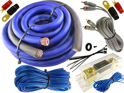 Blue 0 Gauge 5500 WATT CAR PRO Complete AMP Wire Amplifier for sale  Delivered anywhere in USA