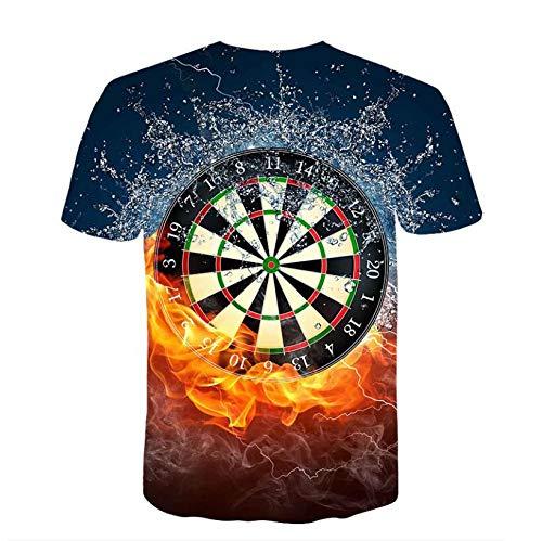 Balakie 3D Flood Printed Short Sleeve Blouse Tops Mens Spring Novelty Shirts