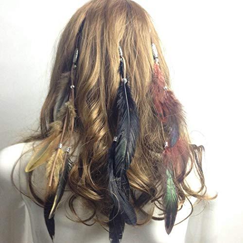 Barogirl Feather Hair Clip Extension Boho Indian Hairpin