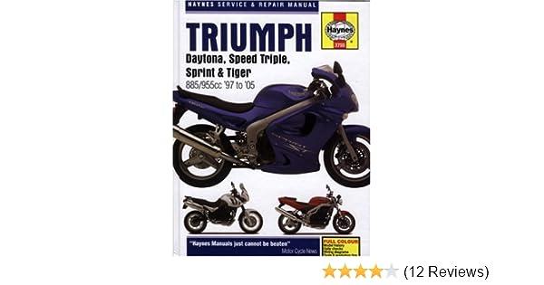 triumph daytona speed triple sprint tiger 885 955cc 97 to 05 rh amazon com Triumph Speedmaster Triumph Tiger 800