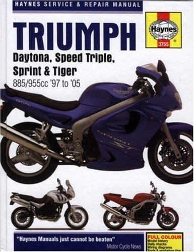 Triumph Daytona, Speed Triple, Sprint & Tiger: 885/955cc '97 to '05 (Haynes Service & Repair Manual)