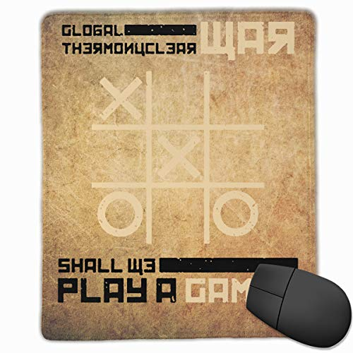 War Games Comfortable Mouse Pad with Stitched Edge