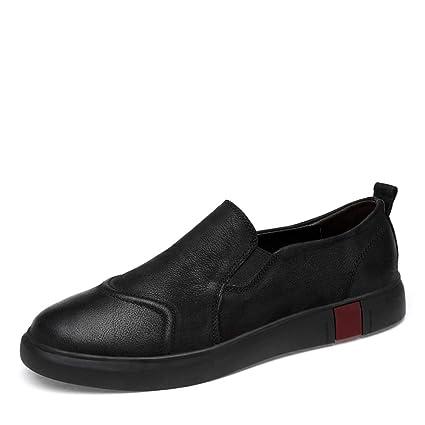 Sunny&Baby Mocasines Penny Loafers Mocasín Zapatos de conducción Zapatos de Cuero Genuino Slip On Flats Antideslizante