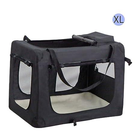 Wellhome Bolsa de Transporte Perro Transportín para Perros Gatos Capazo Portador Tela Mascotas Portátil Plegable XL