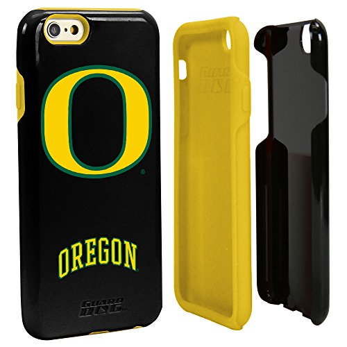 Guard Dog Oregon Ducks Hybrid Case for iPhone 6 / 6s with Guard Glass Screen Protector - Black
