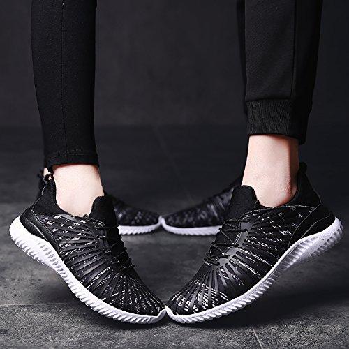 Town Black Lovers Running Couple White Casual Sneaker No 2 Fashion Walking Shoes 66 6qxU5wg