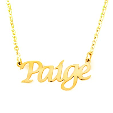 Zacria Debbie Name Necklace 18ct Rose Gold Plated