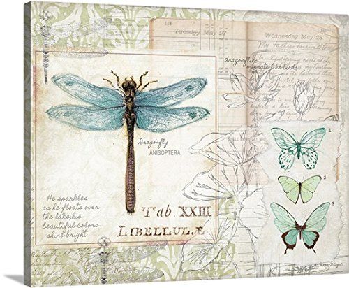 Gallery-Wrapped Canvas Dragonfly Study by Susan Winget