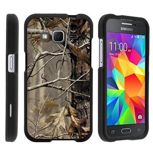 MINITURTLE Case Compatible w/ Miniturtle [Samsung Galaxy Core Prime case, Prevail LTE Cover] [Snap Shell] 2 Piece Hard Plastic Case Fallen Leaves Camouflage