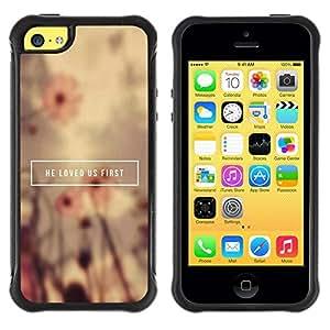 Paccase / Suave TPU GEL Caso Carcasa de Protección Funda para - BIBLE He Loved Us First - Apple Iphone 5C