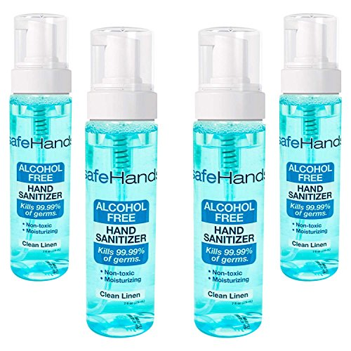 SafeHands Alcohol Sanitizer Brand 4 Pack product image