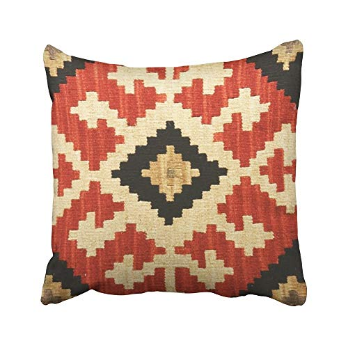 2019 new fashion Decorative Pillowcases Vintage Tribal Patterns Geometric Indian Native Wester Throw Pillow Covers Cases Home Decor Sofa Cushion Cover (18X18In) ()