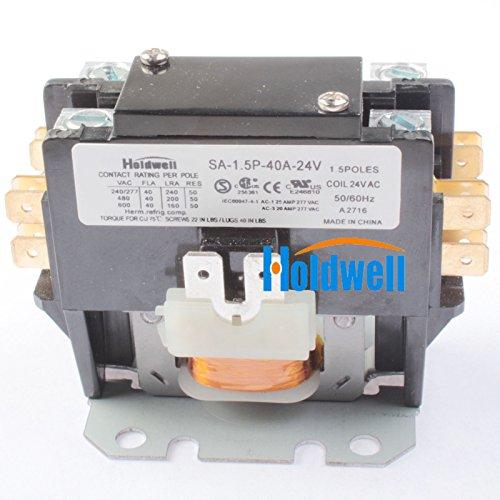 Holdwell SA-2P-40A-240V 2 Pole 40 Amp 240V Coil Definite Purpose Contactor