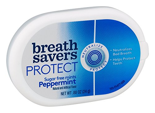 Breath Savers Protect Sugar Free Mints Peppermint 6 Count - Sugar Free Breath Mints