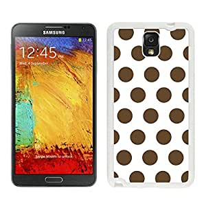 Element Samsung Galaxy Note 3 Case Polka Dot White and Dark Brown Soft Rubber White Phone Cover Speck Accessories