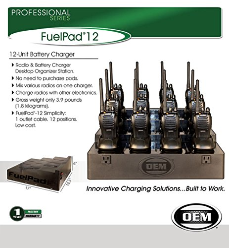 Klein Electronics FUELPAD12 Professional Series 12-Unit Battery Charger, Radio & Battery Charger Desktop Organizer Station, No need to purchase pods, Mix various radios on one charger by Klein Electronics (Image #2)