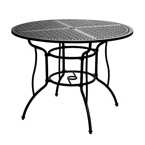 Lakeview Outdoor Designs Elysian 52 Inch Round Cast Aluminum Patio Bar Table