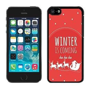 Iphone 5C Case,5C cases,Winter is coming Iphone 5C Case Black Cover