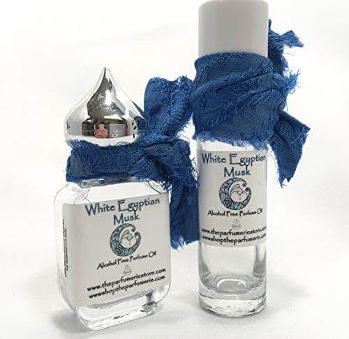 White Egyptian Perfume Essence Oil Alcohol Free (10 ml.) (10 ml.) (White Egyptian Musk - Rollon)